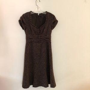 Brown short sleeve dress